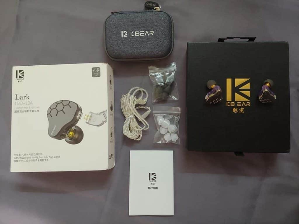 KBEAR LARK Hybrid 1DD+1BA Earphone Review 3